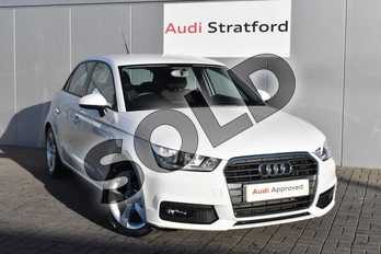 Audi A1 1.0 TFSI Sport 5dr in Shell White at Stratford Audi