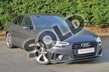 Audi A4 40 TDI Quattro Black Edition 4dr S Tronic in Manhattan Grey Metallic at Worcester Audi