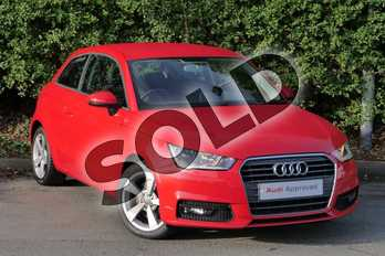 Audi A1 1.6 TDI Sport 3dr in Misano Red Pearlescent at Worcester Audi