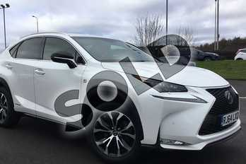 Lexus NX 300h 2.5 F-Sport 5dr CVT in Sonic White at Lexus Lincoln