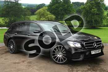 Mercedes-Benz E Class E220d AMG Line Night Edition Prem + 5dr 9G-Tronic in obsidian black metallic at Mercedes-Benz of Grimsby