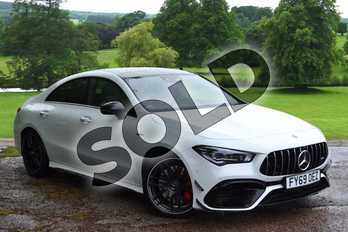 Mercedes-Benz CLA Class CLA 45 S 4Matic+ Plus 4dr Tip Auto in digital white metallic at Mercedes-Benz of Grimsby