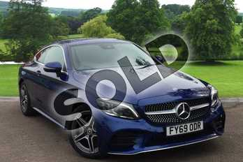 Mercedes-Benz C Class C220d AMG Line Premium 2dr 9G-Tronic in brilliant blue metallic at Mercedes-Benz of Grimsby