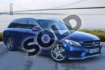 Mercedes-Benz C Class C300h AMG Line Premium Plus 5dr Auto in Brilliant Blue Metallic at Mercedes-Benz of Hull