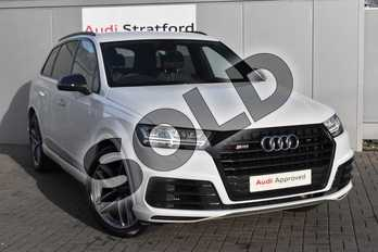 Audi Q7 SQ7 Quattro 5dr Tip Auto in Glacier White Metallic at Stratford Audi