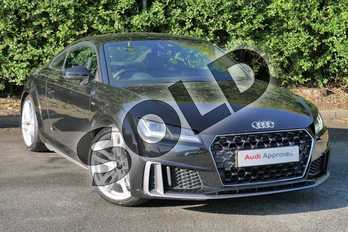 Audi TT 45 TFSI S Line 2dr S Tronic in Myth Black Metallic at Worcester Audi