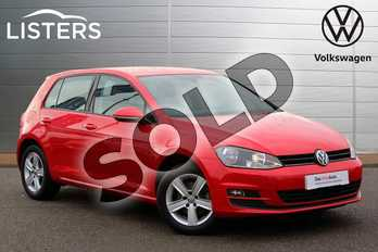 Volkswagen Golf 1.4 TSI 125 Match Edition 5dr in Tornado Red at Listers Volkswagen Nuneaton
