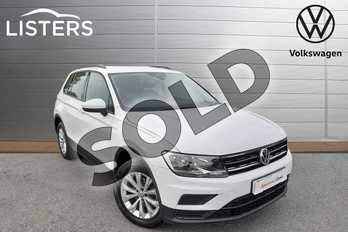 Volkswagen Tiguan 2.0 TDI 150 4Motion S 5dr DSG in Pure White at Listers Volkswagen Nuneaton