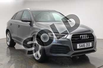 Audi Q3 2.0 TDI (184) Quattro S Line Plus 5dr in Daytona Grey Pearlescent at Coventry Audi