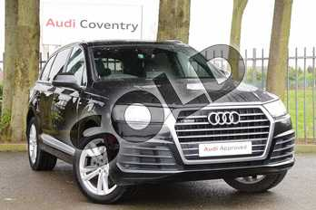 Audi Q7 3.0 TDI Quattro S Line 5dr Tip Auto in Orca Black Metallic at Coventry Audi