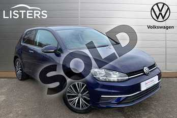 Volkswagen Golf 1.0 TSI 110 SE 3dr in Atlantic Blue at Listers Volkswagen Leamington Spa