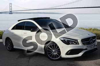 Mercedes-Benz CLA Class CLA 220d AMG Line 4dr Tip Auto in cirrus white at Mercedes-Benz of Hull