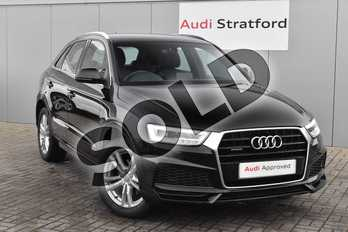 Audi Q3 2.0 TDI Quattro S Line Edition 5dr in Brilliant Black at Stratford Audi