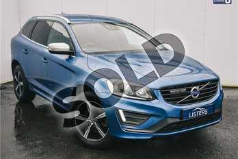 Volvo XC60 D4 (190) R DESIGN Lux Nav 5dr AWD Geartronic in Metallic - Power blue at Listers U Solihull