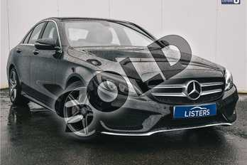 Mercedes-Benz C Class C300h AMG Line Premium 4dr Auto in Metallic - Obsidian black at Listers U Solihull