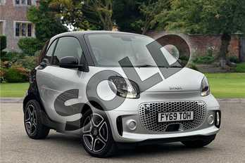 Smart Fortwo Coupe 60kW EQ Pulse Premium 17kWh 2dr Auto (22kWCh) in Bodypanels in metallic Cool silver at Mercedes-Benz of Lincoln