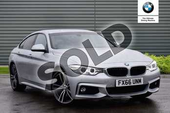 BMW 4 Series 420d (190) xDrive M Sport 5dr Auto (Prof Media) in Glacier Silver at Listers Boston (BMW)