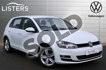 Volkswagen Golf 2.0 TDI Match Edition 5dr in Pure White at Listers Volkswagen Nuneaton
