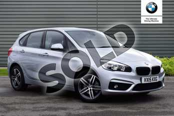BMW 2 Series 218d Sport 5dr Step Auto in Glacier Silver at Listers Boston (BMW)