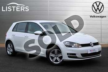 Volkswagen Golf 1.4 TSI Match 5dr DSG in Pure White at Listers Volkswagen Nuneaton