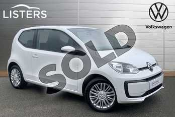 Volkswagen Up 1.0 Move Up 3dr in Pure white at Listers Volkswagen Stratford-upon-Avon