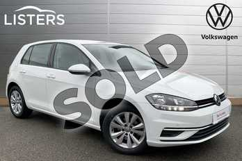 Volkswagen Golf 1.0 TSI 110 SE (Nav) 5dr in Pure white at Listers Volkswagen Stratford-upon-Avon