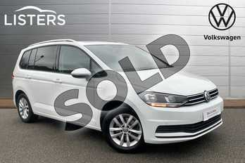 Volkswagen Touran 1.6 TDI 115 SE Family 5dr in Pure white at Listers Volkswagen Stratford-upon-Avon