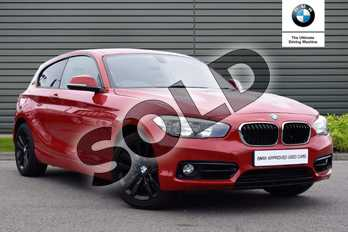 BMW 1 Series 118d Sport 3-Door in Melbourne Red metallic at Listers King's Lynn (BMW)