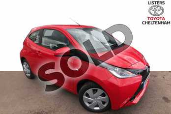 Toyota AYGO 1.0 VVT-i X-Play 3dr in Red Pop at Listers Toyota Cheltenham