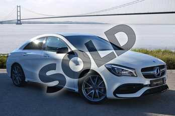Mercedes-Benz CLA Class CLA 45 4Matic 4dr Tip Auto in cirrus white at Mercedes-Benz of Hull