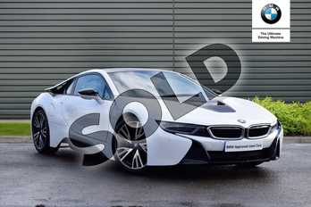 BMW I8 2dr Auto in Crystal White / Frozen Grey accent at Listers Boston (BMW)