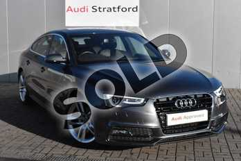 Audi A5 2.0 TDI 150 S Line 5dr Multitronic (Nav) (5 Seat) in Daytona Grey Pearlescent at Stratford Audi