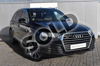Audi Q7 3.0 TDI Quattro S Line 5dr Tip Auto in Ink Blue Metallic at Stratford Audi