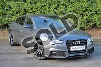 Audi A5 2.0 TDI 190 Quattro Black Ed Plus 5dr S Tronic 5st in Daytona Grey Pearlescent at Worcester Audi