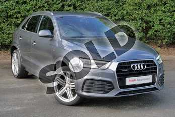 Audi Q3 2.0 TDI (184) Quattro S Line Plus 5dr in Daytona Grey, pearl effect at Worcester Audi