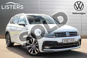 Volkswagen Tiguan 2.0 TDI 150 4Motion R Line 5dr DSG in Pure white at Listers Volkswagen Coventry