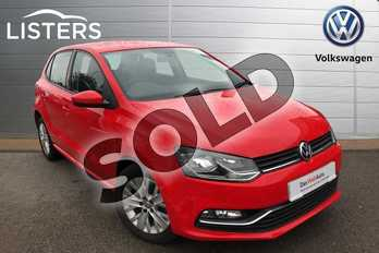 Volkswagen Polo 1.0 75 SE 5dr in Flash Red at Listers Volkswagen Worcester