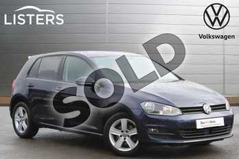 Volkswagen Golf 1.6 TDI 110 Match Edition 5dr in Night Blue at Listers Volkswagen Nuneaton