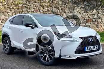 Lexus NX 300h 2.5 F-Sport 5dr CVT in F Sport White at Lexus Coventry
