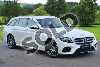 Mercedes-Benz E Class E220d AMG Line 5dr 9G-Tronic in Polar White at Mercedes-Benz of Hull