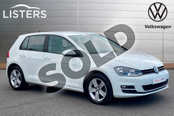 Volkswagen Golf 1.6 TDI 110 Match Edition 5dr in Pure white at Listers Volkswagen Leamington Spa