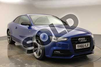 Audi A5 2.0 TDI 190 Quattro Black Ed Plus 2dr S Tronic in Sepang Blue Pearlescent at Birmingham Audi