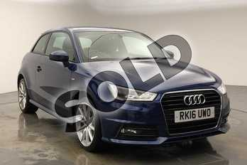 Audi A1 1.4 TFSI 150 S Line 3dr in Scuba Blue Metallic at Coventry Audi