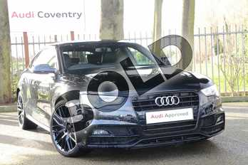 Audi A5 2.0 TDI 190 Black Edition Plus 5dr (5 Seat) in Mythos Black, metallic at Coventry Audi