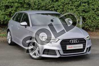 Audi A3 1.6 TDI S Line 5dr S Tronic in Floret Silver Metallic at Worcester Audi