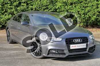 Audi A5 2.0 TDI 177 Black Ed Plus 5dr Multitronic (5st) in Daytona Grey, pearl effect at Worcester Audi