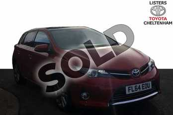 Toyota Auris 1.8 VVTi Hybrid Excel 5dr CVT Auto in Vermilion Red at Listers Toyota Cheltenham