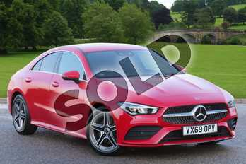 Mercedes-Benz CLA Class CLA 200 AMG Line Premium 4dr Tip Auto in Jupiter Red at Mercedes-Benz of Lincoln