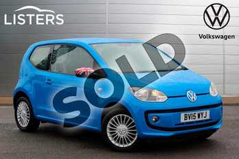 Volkswagen Up 1.0 High Up 3dr in Mayan Blue at Listers Volkswagen Nuneaton
