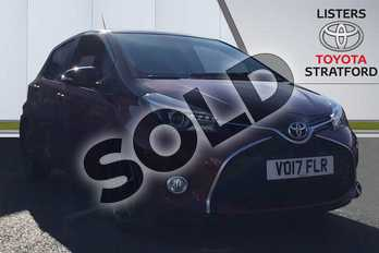 Toyota Yaris 1.33 VVT-i Design 5dr in Black at Listers Toyota Stratford-upon-Avon
